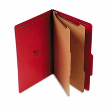 Pressboard Classification Folders, 10/Box