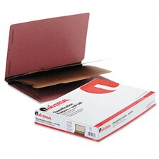 Pressboard End Tab Classification Folders, 10/Box
