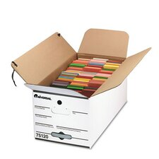 Economy Storage Box with Tie Close, 4/Carton