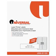 Laser Printer Permanent Labels, 1000/Box