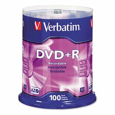 Spindle Dvd+R Discs, 4.7Gb, 16X, Spindle, 100/Pack