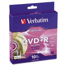 Light Scribe Spindle Dvd+R Discs, 4.7Gb, 16X, 10/Pack