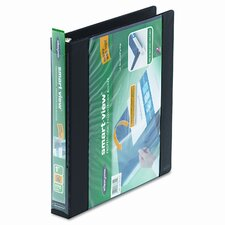"Smart-View Round Ring View Binder, 1"" Capacity"