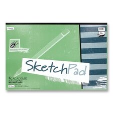 "Sketch Pad, Medium Weight, 18""x12"", 50 Sheets, White"