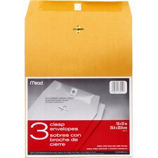 "10"" x 13"" Kraft Clasp Envelope (3 Count)"