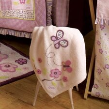 Sugar Plum Appliqued Sherpa Blanket