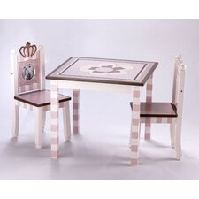 Daniella Kid's 3 Piece Square Table and Chair Set
