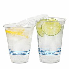 Bluestripe Recycled Content Cold Drink Cups, 9 Oz., 50/Pack