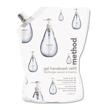 Gel Hand Wash Refill, 34 Oz., Sweet Water Scent, Plastic Pouch