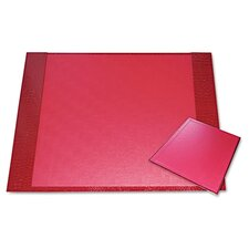 Eco-Friendly Croc Embossed Desk Pads and Mouse Pads, 24 1/2 x 19, Red