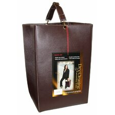 Faux Leather Portable Dry Cleaning and Laundry Tote