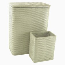 Chelsea Hamper and Matching Wastebasket Set