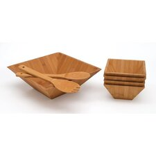 Bamboo Seven Piece Salad Set