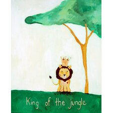 Words of Wisdom King of The Jungle Print