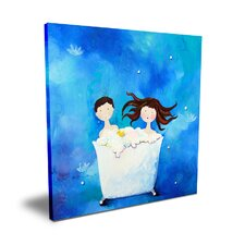 Wit & Whimsy Two in a Tub Canvas Art
