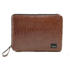 Classic Croc Matte Laptop Sleeve in Brown