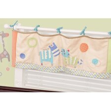 Animal Spots and Stripes Tab Top Tailored Curtain Valance