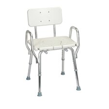 Shower Chair with Cut-Out Molded Seat and Arms