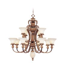 Savannah Thirteen Light Chandelier in Venetian Patina