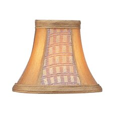 Panel Bell Clip Silk Chandelier Shade in Gold