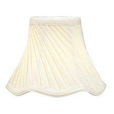 Twist Scallop Bell Clip Chandelier Shade in Ivory