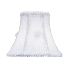 Victorian and Lace Bell Clip Chandelier Shade with Fancy Trim in White