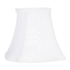 "4.5"" x 5"" Fancy Square Silk Clip Chandelier Shade in White"