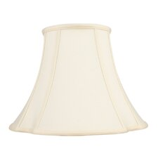 French Oval Shantung Silk Bell Lamp Shade in Off White