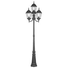 "Hamilton 4 Light 95"" Outdoor Post Lantern Set"
