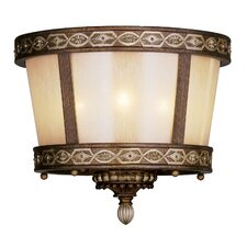 Seville 3 Light Flush Mount