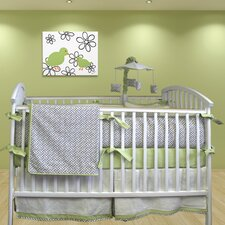 Metro 4 Piece Crib Bedding Set with Mobile