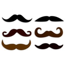 Mustache Rubber Magnets