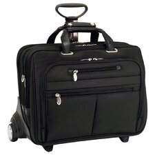 R Series OHare Nylon 2-in-1 Removable-Wheeled Wheeled Laptop Case in Black