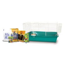 Home Sweet Home Rabbit Cage Starter Kit with Sunseed Food