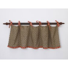 Peggy Sue Cotton Tab Top Tailored Curtain Valance