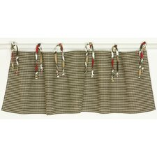 Houndstooth Straight Tab Top Tailored Curtain Valance