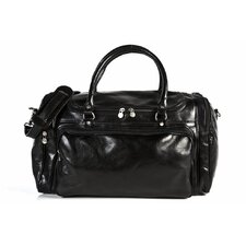 "Piana 12"" Italian Leather Duffle"