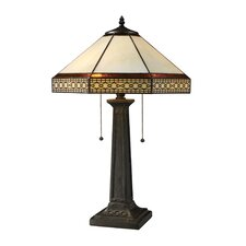 Stone Filigree 2 Light Table Lamp