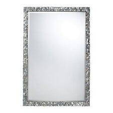 Island Falls Mirror in Silver Mother Of Pearl Shell