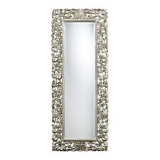 Talmadge Scroll Frame Mirror in Antique Silver