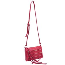 Minna Croco Embossed Faux Leather Cross-Body Bag