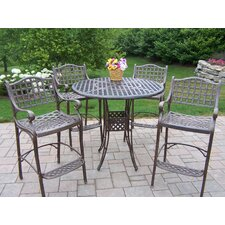 Elite 5 Piece Bar Height Dining Set