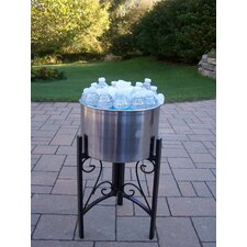 Stainless Steel Ice Bucket with Stand