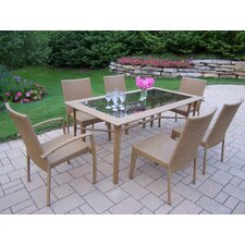 Sun Shade Wicker Dining Set