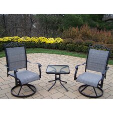 Sling 3 Piece Swivel Chat Set