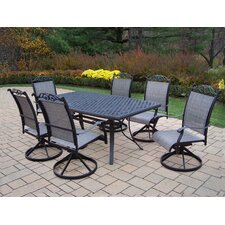 Cascade 7 Piece Swivel Dining Set