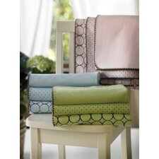 Ultimate Receiving Blanket® in Pastel with Brown Mod Circles