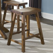 Creations II Casual Dining Sawhorse Barstool in Tobacco