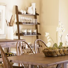 Farmhouse Casual Dining Leaning Bookcase in Weathered Oak