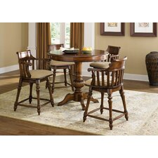 Crystal Lakes 5 Piece Counter Height Dining Set